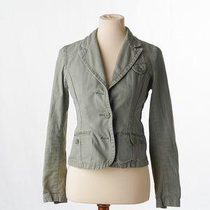 American Eagle Womens Olive Green Denim Jacket S